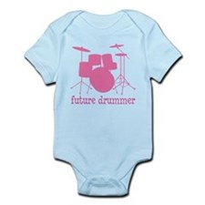future drummer silhou pink Body Suit