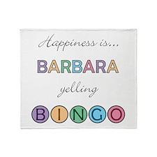 Barbara BINGO Throw Blanket
