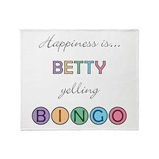Betty BINGO Throw Blanket