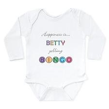 Betty BINGO Long Sleeve Infant Bodysuit