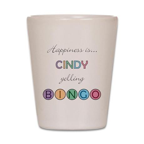Cindy BINGO Shot Glass