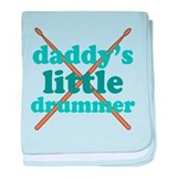 Daddy's Little Drummer baby blanket