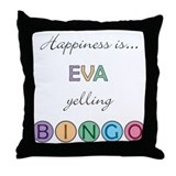 Eva BINGO Throw Pillow