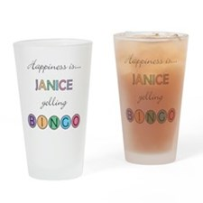 Janice BINGO Drinking Glass
