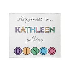 Kathleen BINGO Throw Blanket
