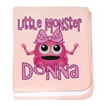 Little Monster Donna baby blanket