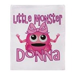 Little Monster Donna Throw Blanket