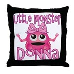 Little Monster Donna Throw Pillow