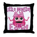 Little Monster Edith Throw Pillow