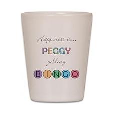 Peggy BINGO Shot Glass