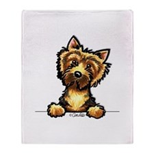 Norwich Terrier Line Art Throw Blanket