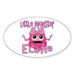 Little Monster Elaine Sticker (Oval)