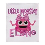 Little Monster Elaine Throw Blanket