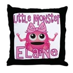 Little Monster Elaine Throw Pillow