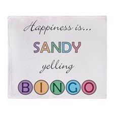 Sandy BINGO Throw Blanket