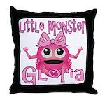Little Monster Gloria Throw Pillow