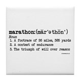 Marathon Definition Tile Coaster