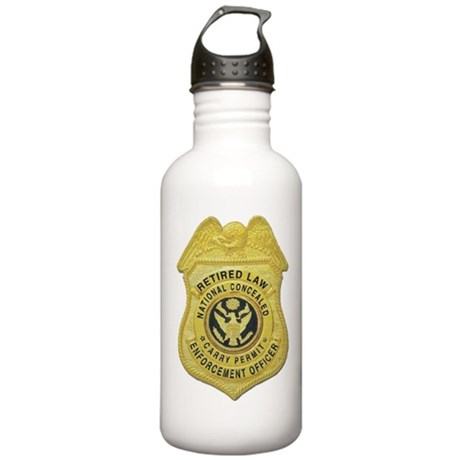 Retired Law Enforcement Stainless Water Bottle 1.0