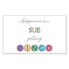 Sue BINGO Rectangle Decal
