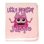 Little Monster Jamie baby blanket