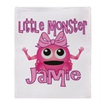 Little Monster Jamie Throw Blanket