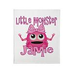 Little Monster Jamie Throw Blanket