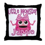 Little Monster Jamie Throw Pillow