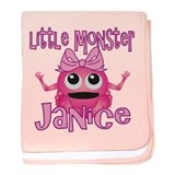 Little Monster Janice baby blanket