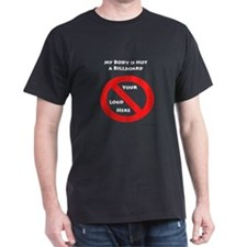 No Billboard Black T-Shirt