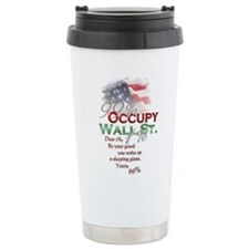 Occupy Wall St. Ceramic Travel Mug