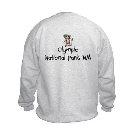 Hike Olympic Nat Park (Girl) Kids Sweatshirt