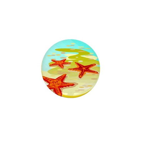 STARFISH {2} Mini Button (100 pack)