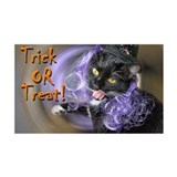 Trick-or-treat kitty-witch 38.5 x 24.5 Wall Peel