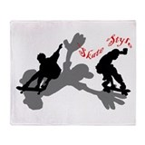 Skateboarding Skateboarders Throw Blanket