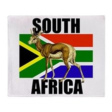 South Africa Springbok Throw Blanket