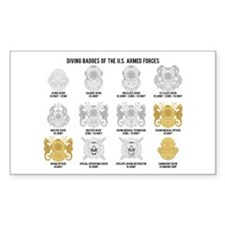 Diving Badges of the US Decal