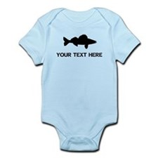 CUSTOMIZABLE WALLEYE Infant Bodysuit