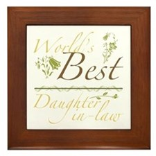 Vintage Best Daughter-In-Law Framed Tile
