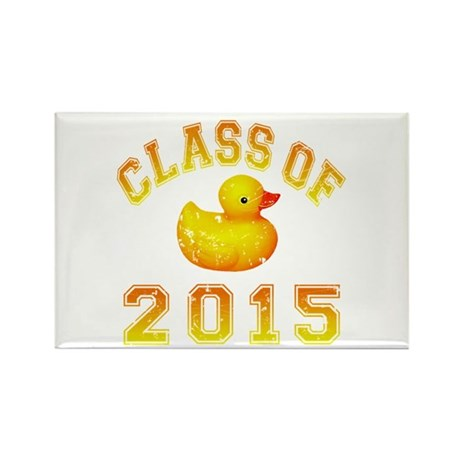 Class Of 2015 Rubber Duckie Rectangle Magnet (100