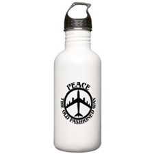 B-47 Peace The Old Fashioned Way Water Bottle
