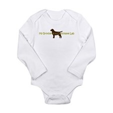 My Brother is a Chocolate Lab Onesie Romper Suit