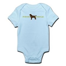 My Brother is a Chocolate Lab Infant Bodysuit