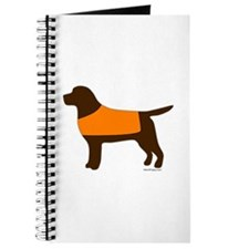 Chocolate Lab - Orange Vest Journal