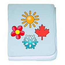 Cute Seasons baby blanket