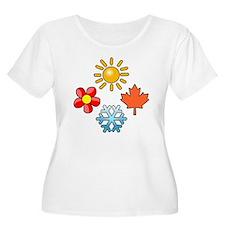 Unique Snow ski T-Shirt