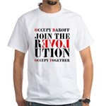 #OccupyDaroff White T-Shirt