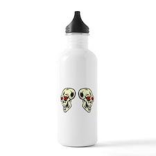 Red Eyed Skulls Water Bottle