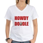Howdy Goldendoodle Women's V-Neck T-Shirt