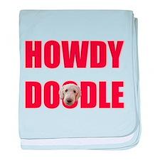 Howdy Goldendoodle baby blanket