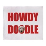 Howdy Goldendoodle Throw Blanket